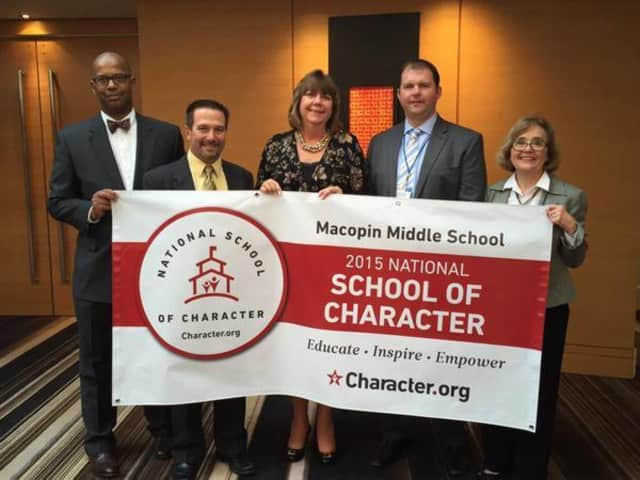 "Macopin Middle School was named a ""School of Character."""
