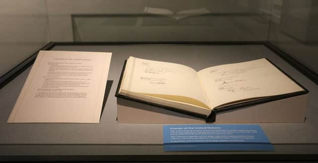 This is the original Charter of the United Nations which established the U.N.