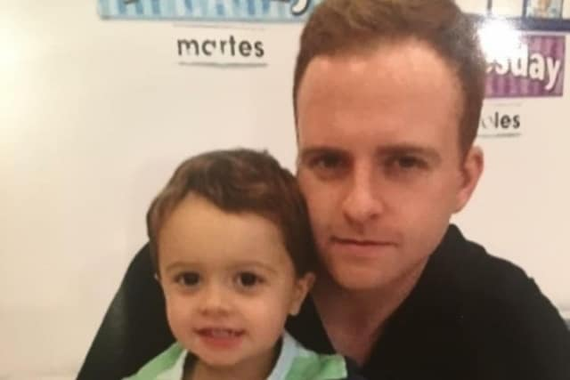 Thomas Ryan with his son, Jack, of Ramsey.