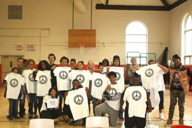 Students at Peekskill High School are taking part in the Power of Peace program which focuses on leadership, conflict resolution, teamwork and more.