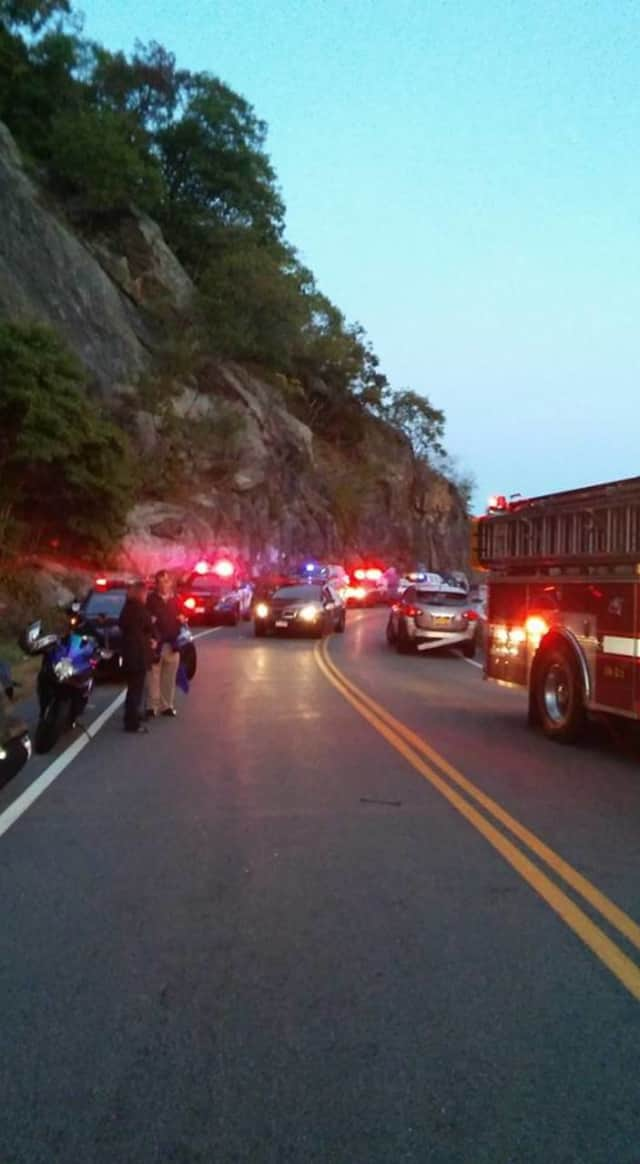 A motorcyclist is listed in critical condition following an accident on the Bear Mountain Bridge.