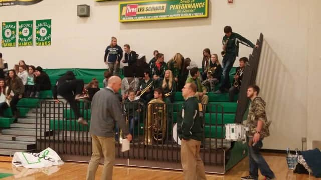 Lakeland High School's band is selling garbage bags to raise funds.