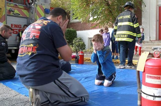 Hawthorne and Thornwood firefighters taught Hawthorne Elementary School students about fire safety and prevention Tuesday during National Fire Prevention Week.