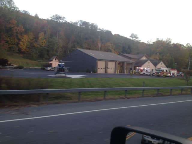 Officials are responding to a motorcycle accident on Route 9.