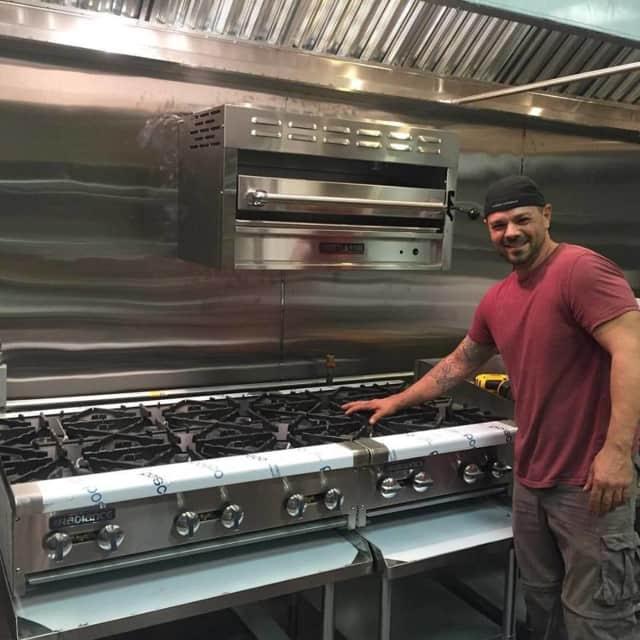 Anton Testino in the kitchen of Axtons in Pompton Lakes.