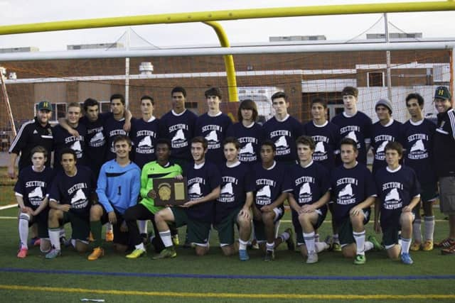 The Hastings Boys Varsity Soccer Team