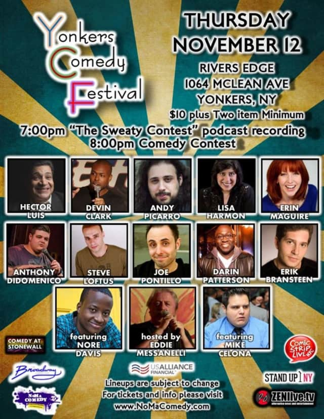 The festival will feature comedy contests and shows throughout the city.