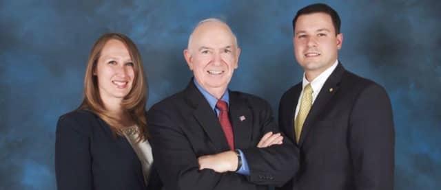 Elmwood Park Republican candidates Magdalena Giandomenico, Mayor Richard Mola and Anthony Chirdo