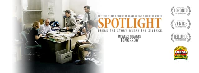 """A trailer from the new movie """"Spotlight,"""" which depicts the Boston Globe coverage of the clergy sex abuse scandal, will be shown during the discussion."""