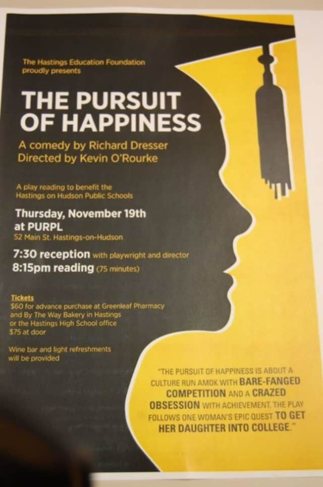 A play reading is set to benefit Hastings-on-Hudson schools.