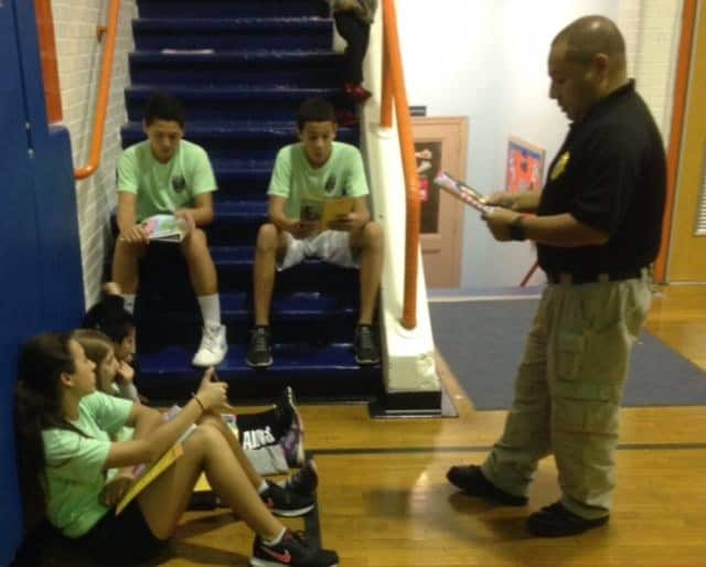 School Resource Officer Castro teaches Lodi youth about cyber bullying.