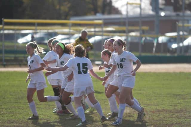 Midland Park Girls Varsity Soccer Nov. 9 victory will send the team to the sectional final.