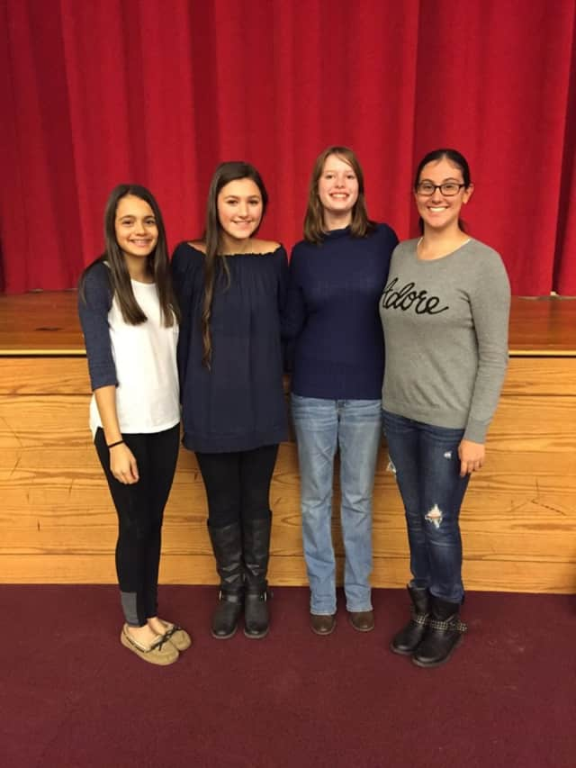 From left: Theresa Abou-Daoud, Natalie Pira, Taylor Andresen, Jackie Capone. The four girls will sing in Bergen County's High School Choir this winter.