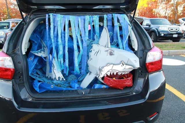"""A Trunk or Treat car at Westlake Middle School's inaugural """"Trunk or Treat."""""""