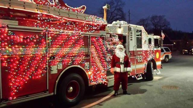 The Glen Rock Fire Department will escort Santa Claus around the borough Dec. 19.