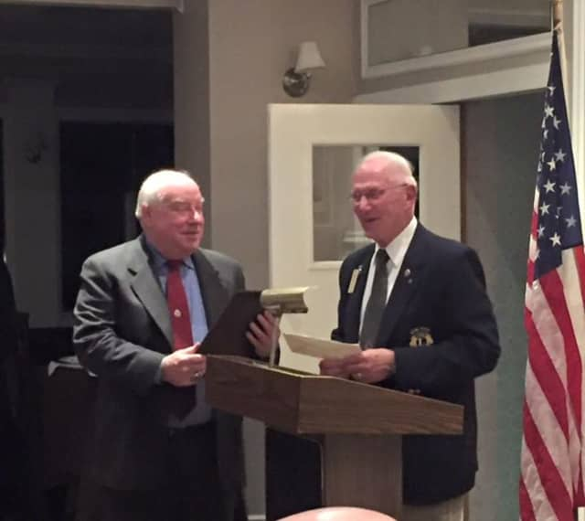 Ossining Police Chief Joseph Burton received a day named after him from the Ossining Lion's Club among other proclamations and accolades.