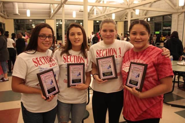 The Peekskill school district honored many of its student-athletes recently during its fall awards ceremony.
