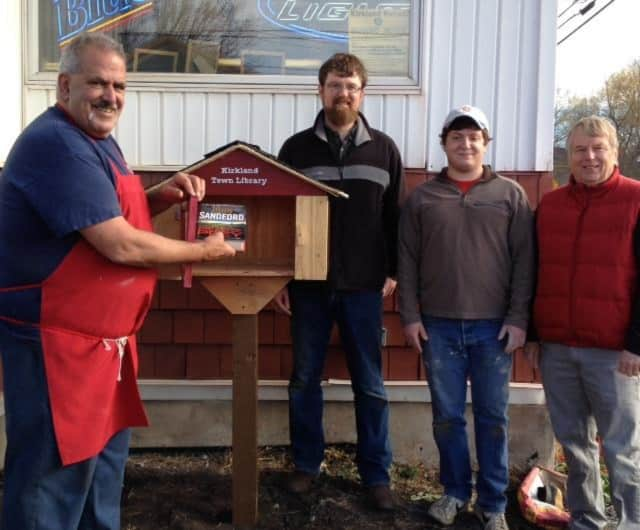 """Clark Mills, a hamlet of Kirkland, now has a """"little"""" library thanks to a local Eagle Scout, the town supervisor and plenty of volunteers."""