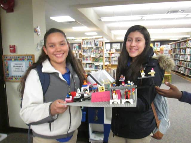 Families can build Legos together at the Lodi Memorial Library.