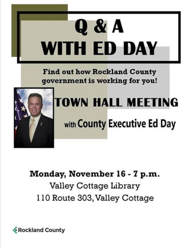 County Executive Ed Day will host series of town hall-style meetings on the budget.