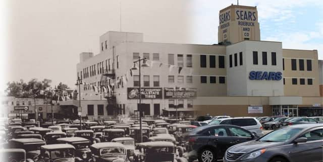 Sears Roebuck Tower over the years in Hackensack.
