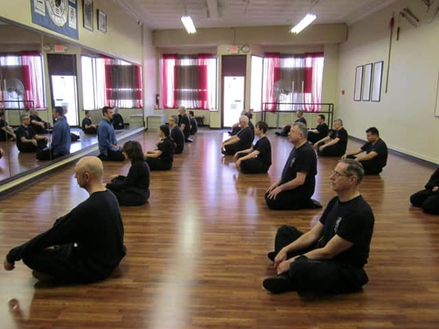 The Blue Dragon School of Martial Arts is holding a meditation session to relieve holiday stress.