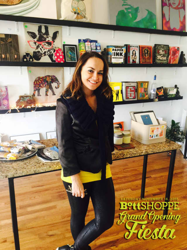 Lara Saravia Bott owns and operates the Bott Shoppe on Mamaroneck Avenue.
