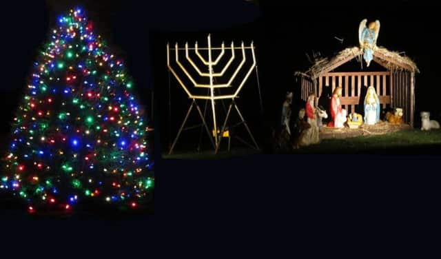 Oakland will invite surprise guests to entertain the public at a tree and menorah holiday event.