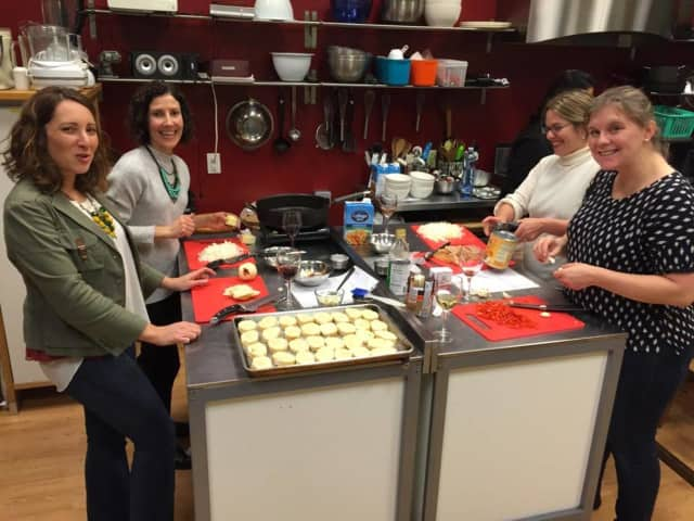 Members of the Contemporary Club of Ho-Ho-Kus takes a culinary class in Ridgewood.