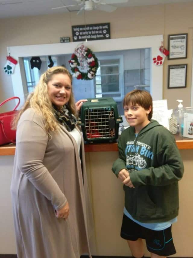 """Foxtrot finds a home """"fur"""" the holidays at the West Milford Animal Shelter."""