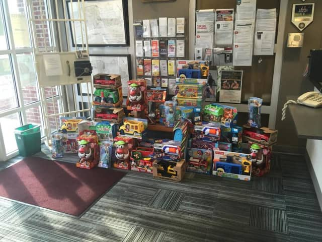 A Park Ridge family donated a large number of toys to the police department's annual toy drive.