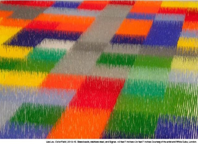"""Liza Lou's """"Color Field"""" exhibit at the Neuberger Museum of Art."""