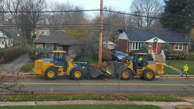 The Glen Rock DPW has been busy picking up leaves.