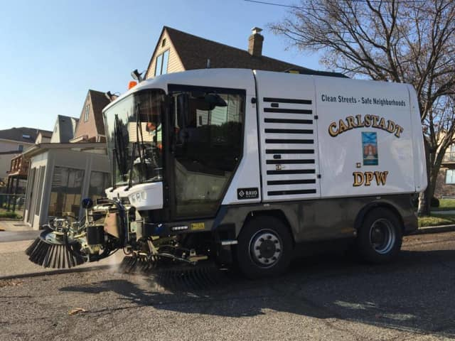 The NAVO is Carlstadt's new state-of-the-art street sweeper.