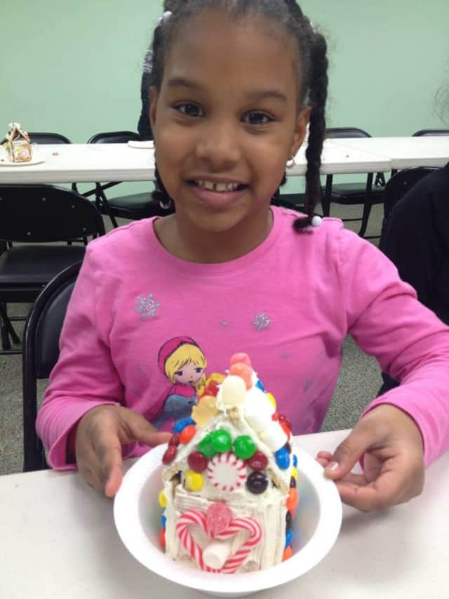 Kids made gingerbread houses at the East Rutherford Library.
