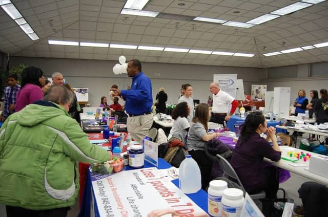 A visitor explores tables at a past Annual Nanuet Chamber of Commerce Fitness Fair.