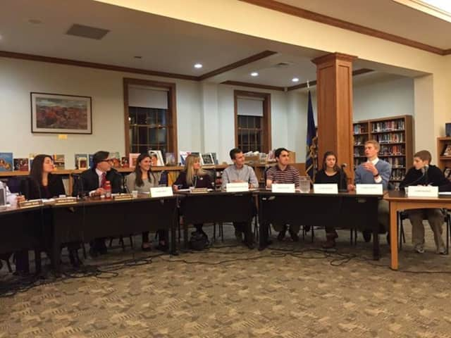 The Pleasantville Board of Education and Student Government held a joint meeting recently.