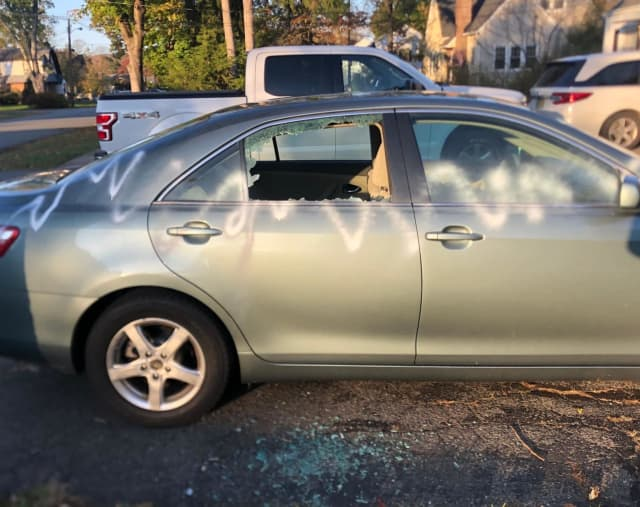 A Pequannock Township man is offering a cash reward of $500 for information that leads to the arrest and conviction of a perp who vandalized his son's vehicle earlier this week.