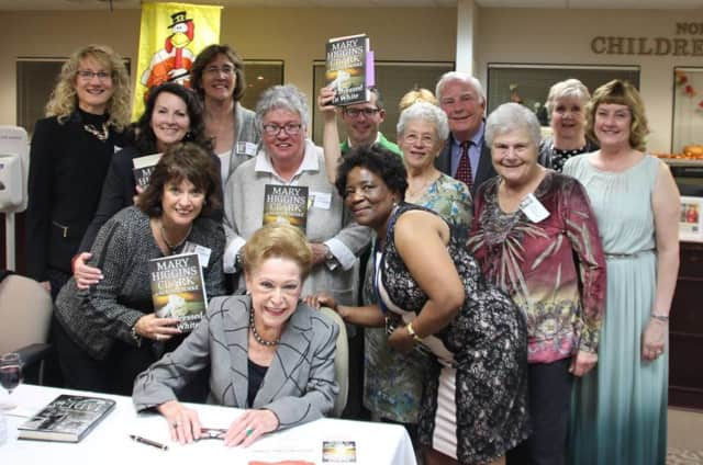 Wayne Library supporters attend a book signing with author Mary Higgins Clark.