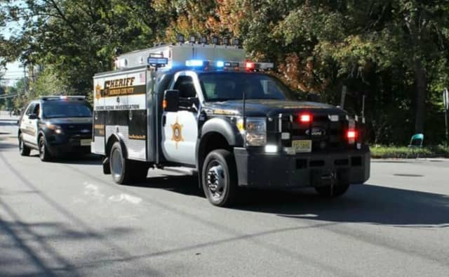 A Morris County Sheriff's Department vehicle collided with a Ford F150 early Tuesday morning in Parsippany.