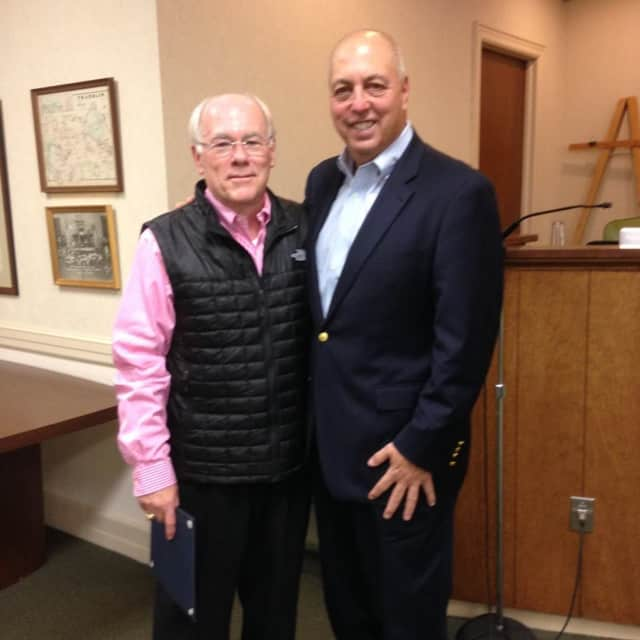 Franklin Lakes Mayor Frank Bivona, right, said a special needs housing project will benefit the borough.