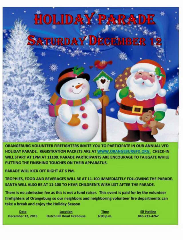 Orangeburg firefighters will be hosting a holiday parade on Saturday.
