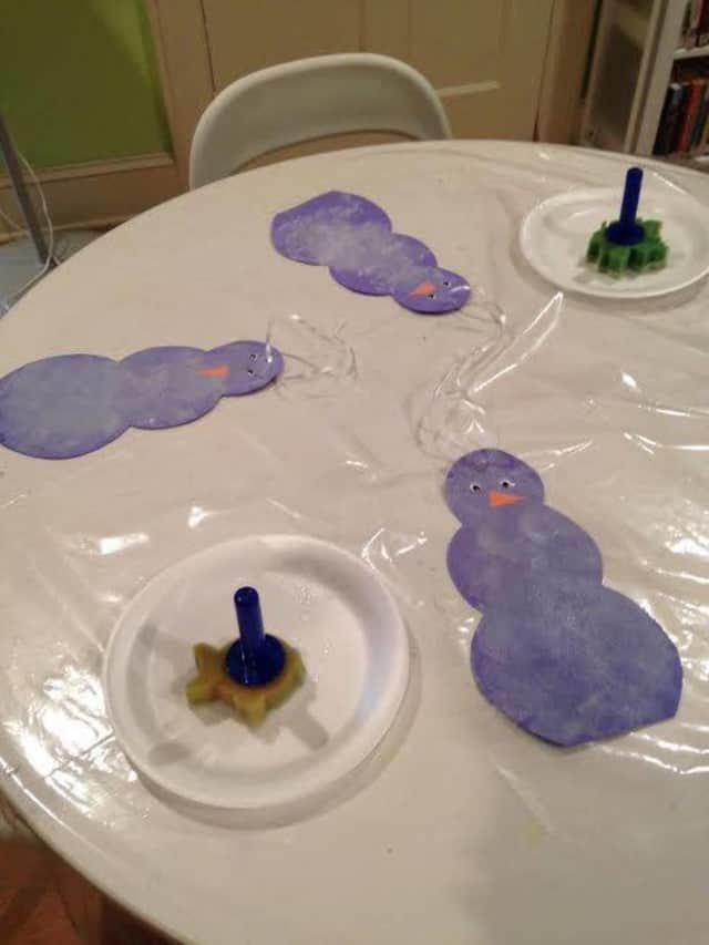 The Red Hook Public Library made snowmen in this week's Petite Picasso class.
