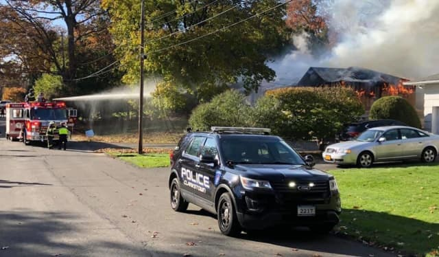A fire destroyed an addition being added to a New City home as well as part of the main residence.