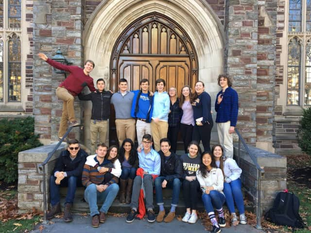 The Bronxville High School students who attended the Model UN Conference.