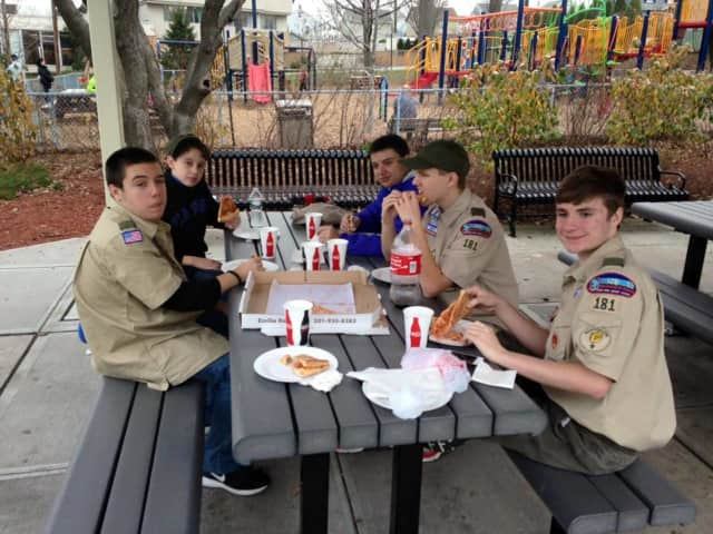 Wood-Ridge Scout Matthew Cupo and his team, which will be collecting lunch kit donations for his Eagle Scout project.