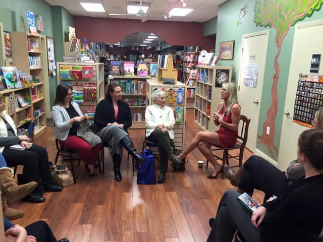A discussion at Well Read Bookstore in Hawthorne.