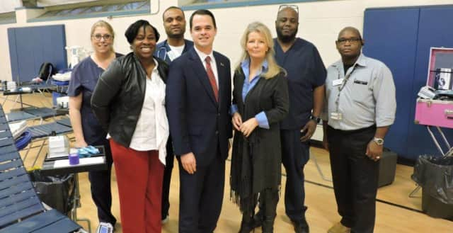 State Sen. David Carlucci and the New York Blood Center held an emergency blood drive at the Congers Community Center to make sure enough blood is on hand during the holidays.