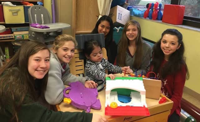 Wanaque students visited with patients at the Wanaque Center for Pediatrics over the holidays.