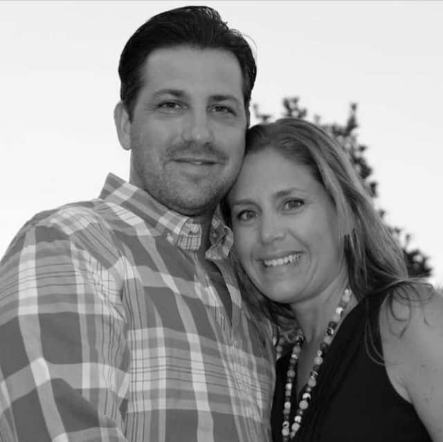 Emily Vallario with her husband,